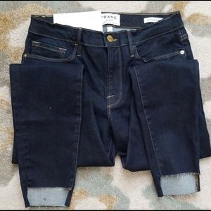 Frame le skinny de jeanne size 30 dark blue